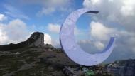 So sieht der Gipfel-Halbmond in den Appenzeller Alpen aus – bald muss er abgebaut werden