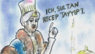 Recep Tayyip Erdoğan als Sultan