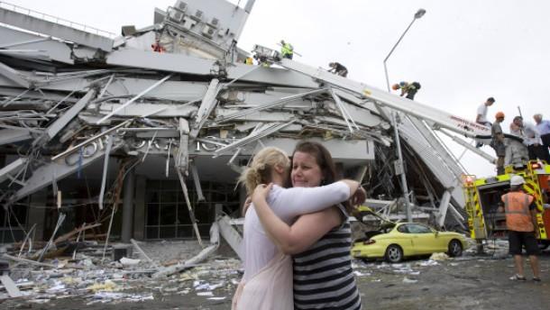 65 Tote bei starkem Erdbeben in Christchurch