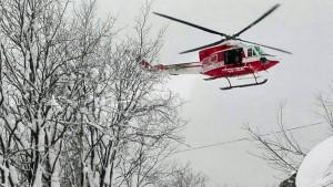 Rettungshubschrauber in den Abruzzen abgestürzt