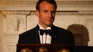 Emmanuel Macron am Dienstag im Weißen Haus
