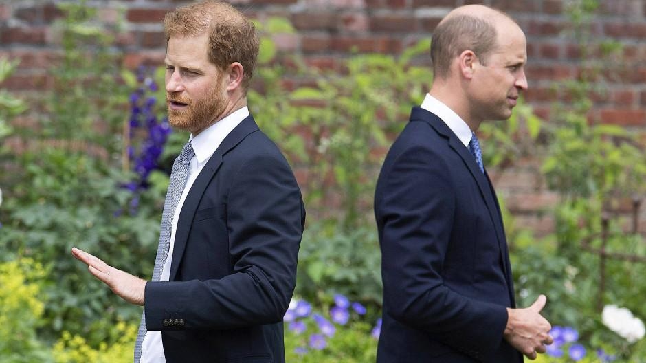 Unterschiedliche Sicht: Prinz Harry (links) und Prinz William am 1. Juli bei der Enthüllung eines Denkmals zu Ehren ihrer Mutter, Prinzessin Diana, in London
