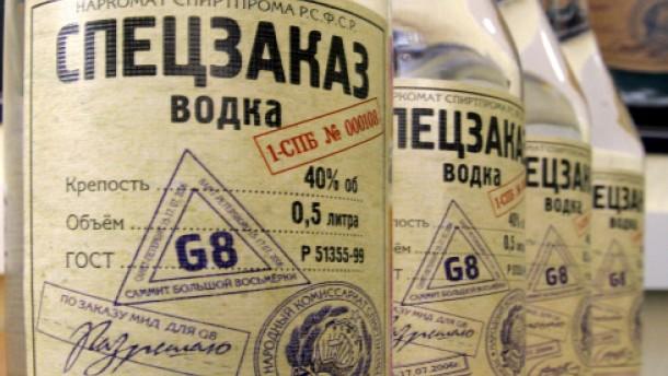 Wodka rettet Mann das Leben