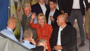 Bill und Hillary Clinton auf dem Oktoberfest