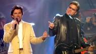 Dieter Bohlen (r) mit Thomas Anders als Modern Talking. Heute ist er ein Batman ohne Robin