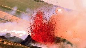 Der Vulkan bricht auf