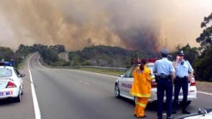 Sydney von Buschbränden eingeschlossen
