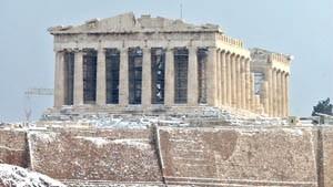 Athen und Istanbul im Schneechaos