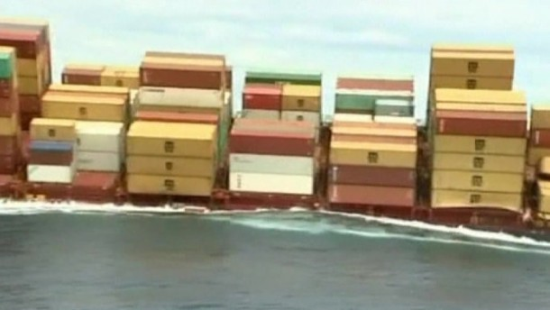 Havarierter Frachter kurz vor dem Bersten