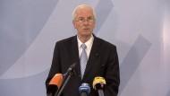 Generalbundesanwalt Harald Range spricht über den am Donnerstag festgenommenen mutmaßlichen Helfer der Neonazi-Zelle aus Zwickau.