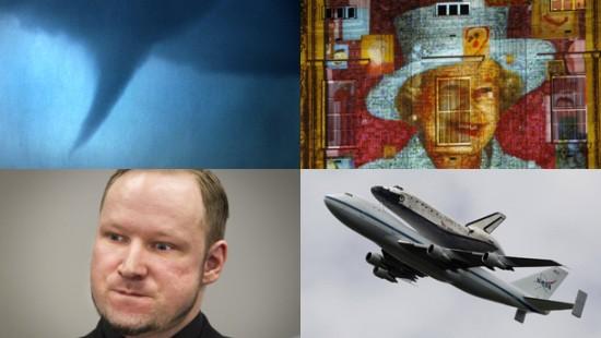 Die Rakete und ein Space Shuttle