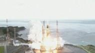 Eine unbemannte Transportrakete wurde vom japanischen Küstenort Tanegashima gen All geschickt.