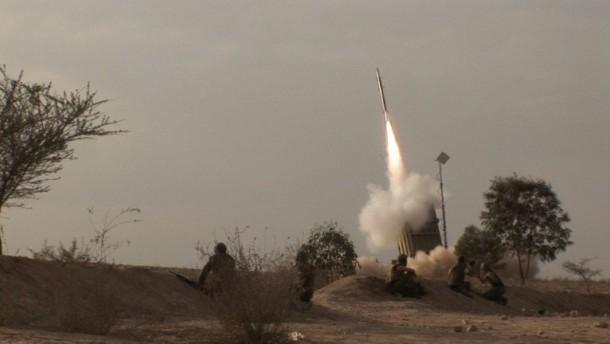 """Israels Raketenschild: """"Eiserne Kuppel"""" im Einsatz"""