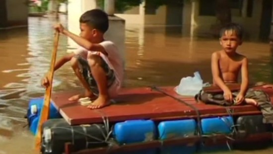 Schwere Überschwemmungen in Kambodscha