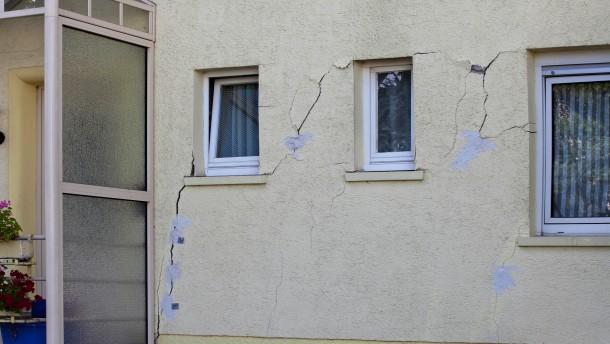 Bodenerosionen verursachen Häuserschäden