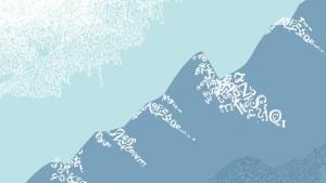 Vor imposanter Alpenkette um den besten Ausdruck ringen