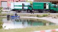 Tatort des Doppelmordes: Im Leipziger Badesee fanden Polizisten die Leichenteile des ermordeten Paares aus Tunesien.