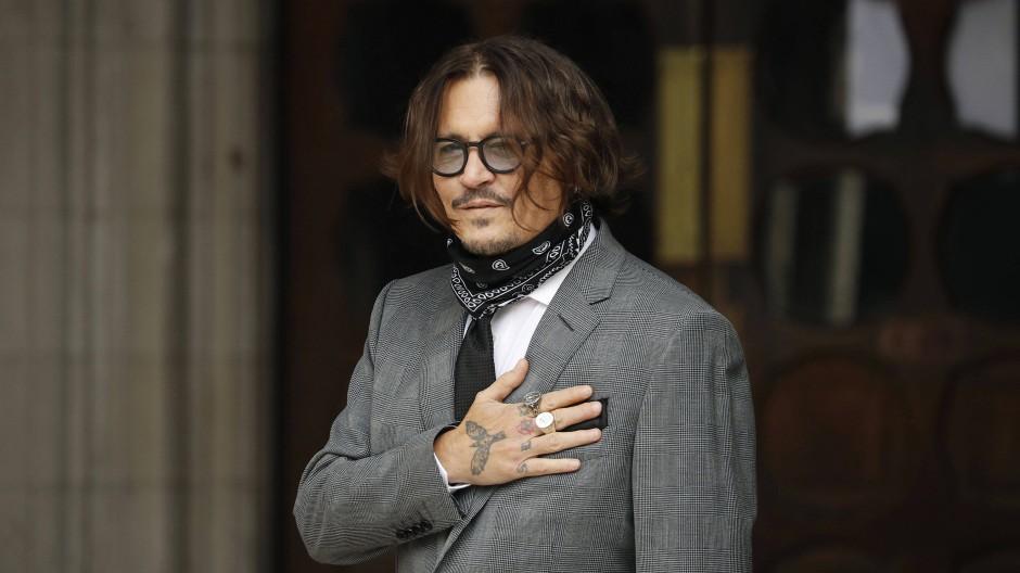 Johnny Depp trifft am 13. Juli am Gericht in London ein.
