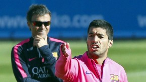 """""""Jeder hat andere Wege, sich zu verteidigen"""", sagt Luis Suarez, aufgenommen beim Training am Freitag in Barcelona"""
