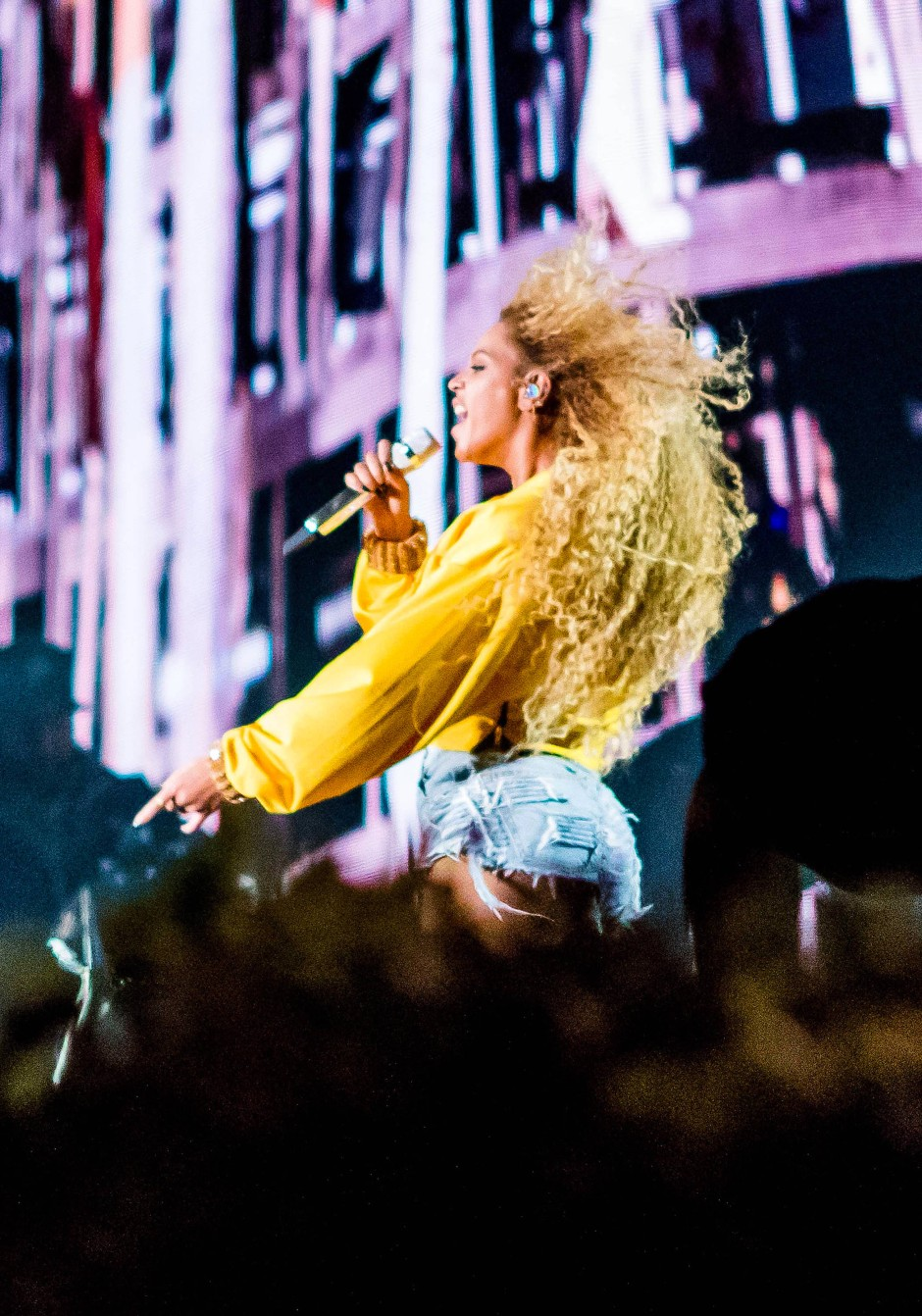 Eine der drei Headliner des Festivals: Queen B persönlich.
