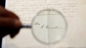90 Jahre alter Brief von Albert Einstein versteigert