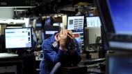 Ein Händler an der Börse in New York: Die Verzweiflung ist groß.