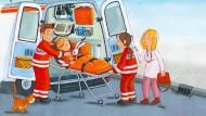 Kind auf dem Weg ins Krankenhaus: Den Teddy besser nicht vergessen