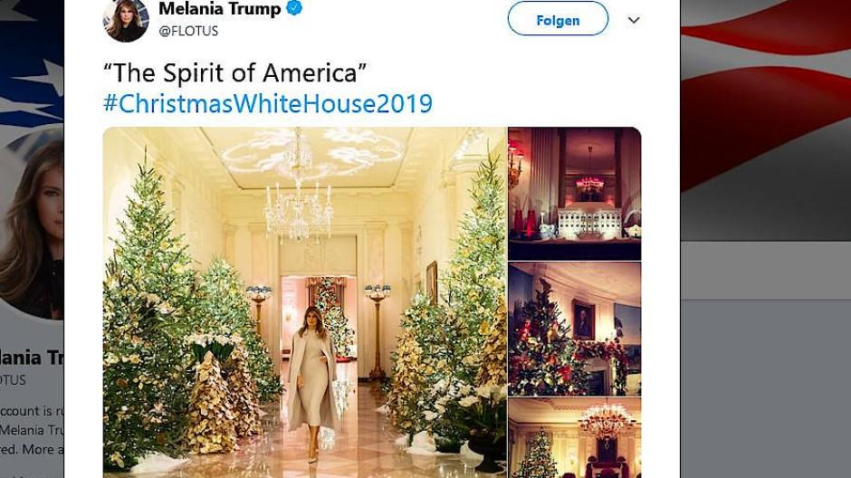 Melania Trump präsentiert ihren Weihnachtsschmuck