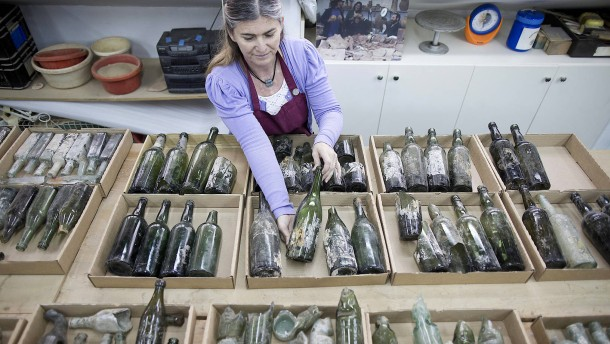 Kuriose Ausgrabungen in Israel: Flaschen
