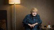 Eva Mozes Kor mit 82 Jahren in einem Berliner Hotel.