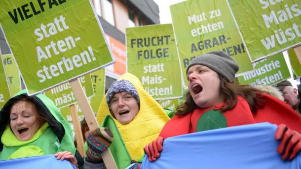 Demo vor Treffen der Landwirtschaftsminister