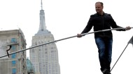 Hochseilartist Nik Wallenda bei einem Event in New York City. Bei dem aktuellen Sturz blieb er unverletzt.