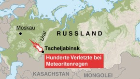 Infografik / Karte / Meteoriteneinschlag in Russland