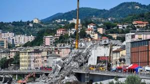 Italien spricht sich gegen Wiederaufbau-Pläne des Betreibers aus
