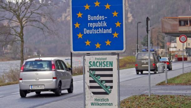 Sachsen und Bayern für mehr Grenzkontrollen