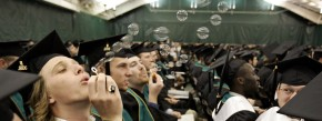 Vorbild Amerika: Studenten in Burlington bei ihrer Graduierung.