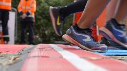 Wie bei einem Marathon die Zeit gemessen wird