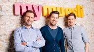 Die MyMuesli-Gründer: Philipp Kraiss, Max Wittrock und Hubertus Bessau (v.l.n.r.).