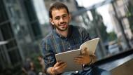 Yazan Atassi aus Syrien möchte in Dresden Nanotechnologie studieren.