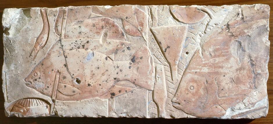Relief mit Fischen aus der Amarna-Periode