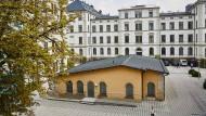 Hauptgebäude der TU Chemnitz, vom Innenhof gesehen