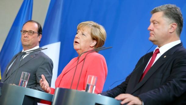 Merkel mahnt Einhaltung der Minsker Vereinbarung an