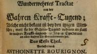 Titelblatt eines Traktats von Antoinette de Bourignon