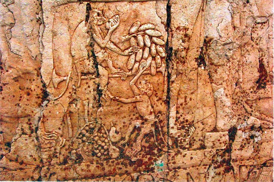 Alltagsszene mit Affen aus der Amarna-Periode