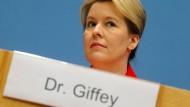 """Ein Doktorgrad ist langlebig: Franziska Giffey zu Zeiten (2019), in denen sie den """"Dr."""" selbst noch trug."""
