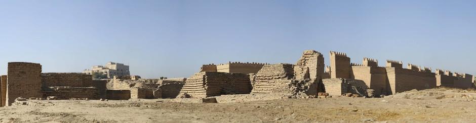 Die Ruinen der Stadt Babylon, hundert Kilometer südwestlich des heutigen Bagdad