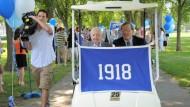 Der Kontakt ist nie abgerissen: Alumnus der Klasse von 1918 in Andover, Massachusetts
