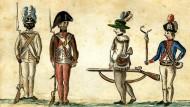 Schlacht bei Yorktown – colorierte Zeichnung von Jean-Baptiste-Antoine DeVerger aus dem Jahr 1781