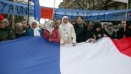 Demonstration gegen das Kopftuchverbot in Paris