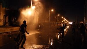 Straßenschlachten vor dem Präsidentenpalast